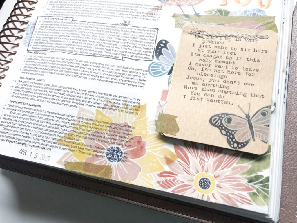 Print and Pray Hybrid Bible Journaling by Becca Jensen using digital printables | Forgiven and Free | Matthew 6
