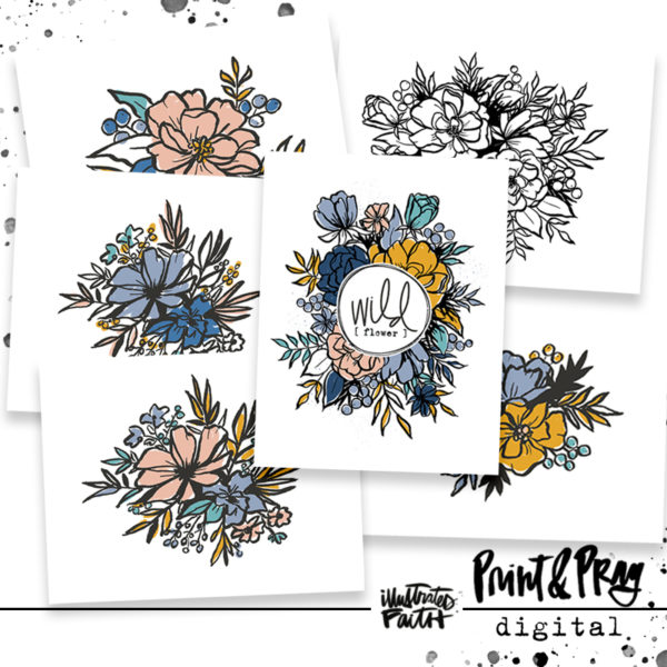 Illustrated Faith Wildflower Large Florals