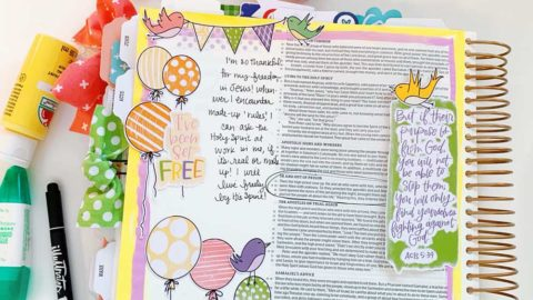 Print and Pray Hybrid Bible Journaling | Set Free | Acts 5