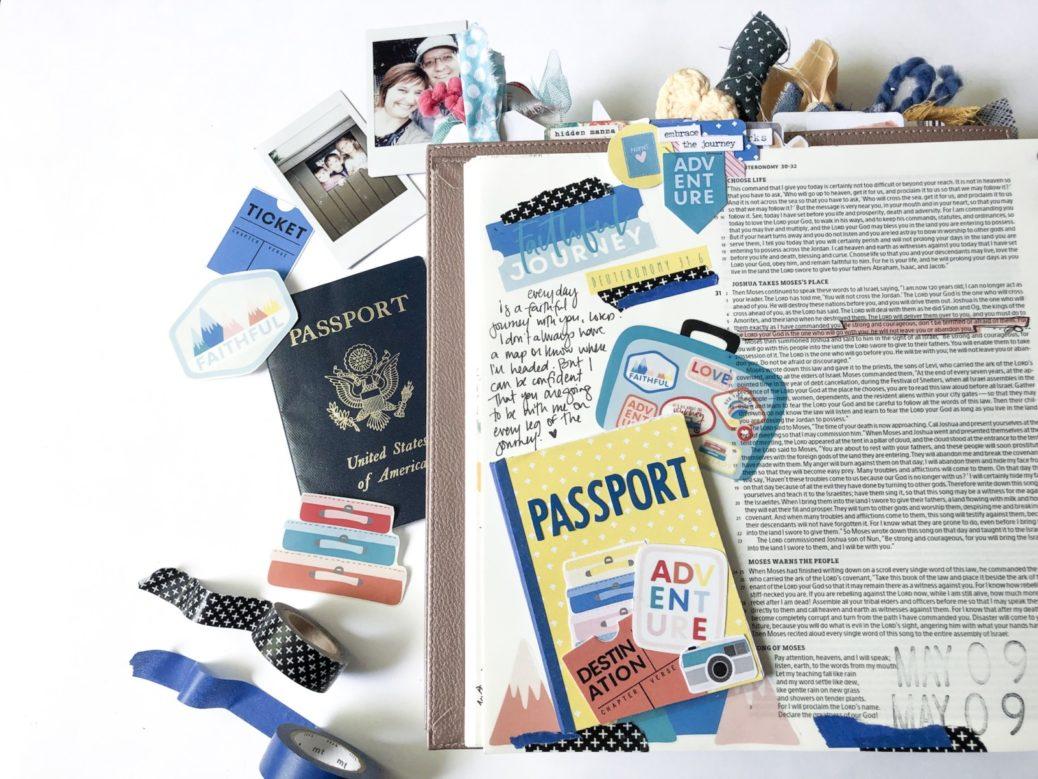 Print and Pray Bible Journaling by Rebecca Jensen | Faithful Journey | Deuteronomy 31:6