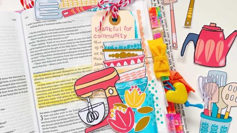 Print and Pray Hybrid Bible Journaling | Christ in Community | Acts 2