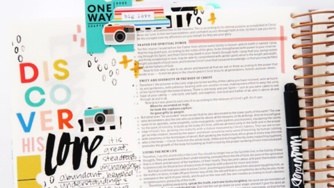 Print and Pray Bible Journaling Process Video   Discover His Love   Ephesians 3:18