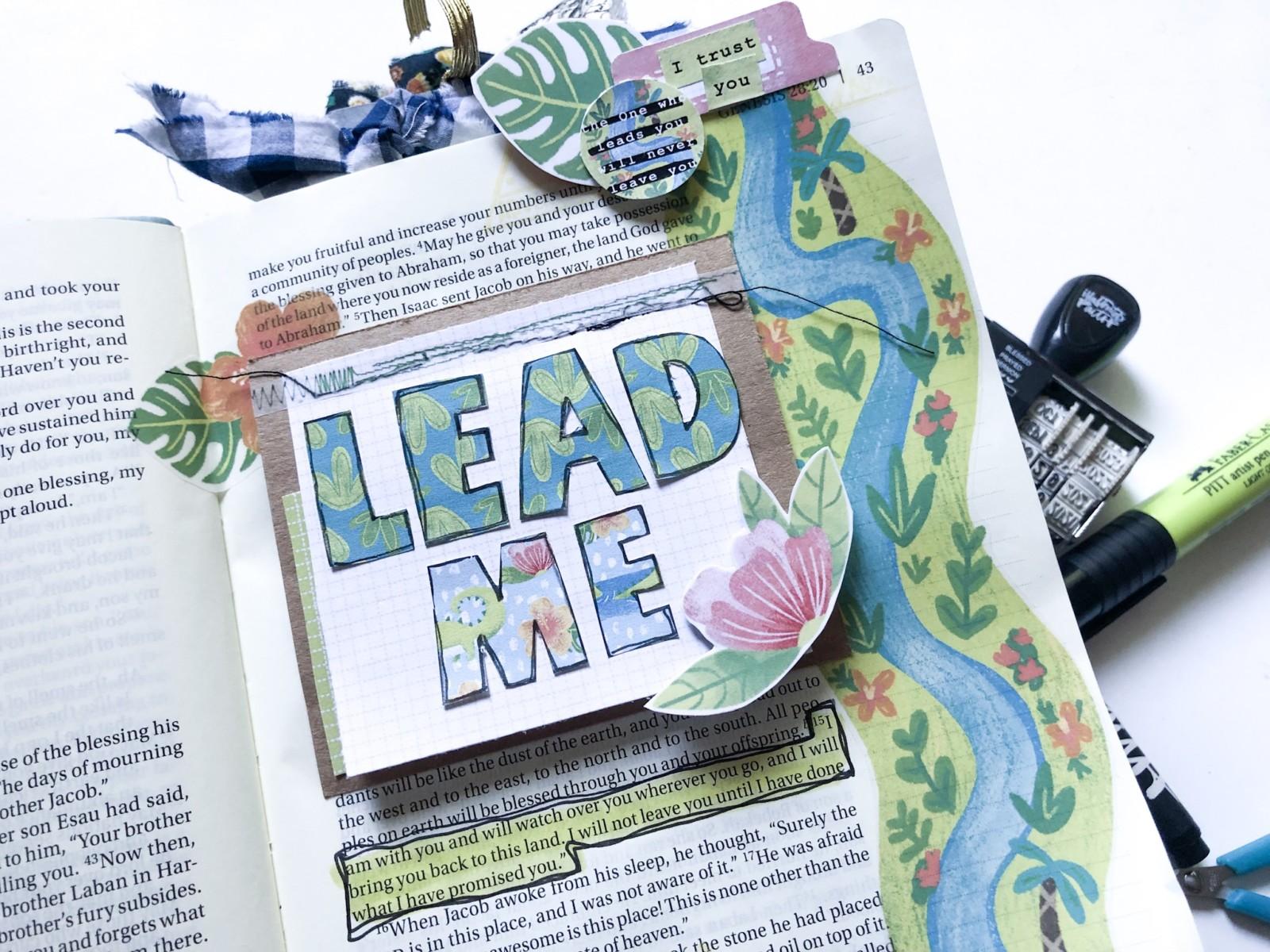 Print and Pray Hybrid Bible Journaling by Rebecca Jensen using digital printables   Never Alone   Genesis 28:15