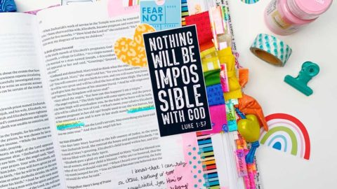 Mixed Media Hybrid Bible Journaling | Nothing's Impossible for God | Luke 1:37