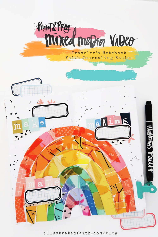 Print and Pray Basics | Traveler's Notebook Process Video by Jillian aka Hello Jillsky using digital printables