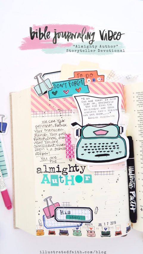 Bible Journaling Process Video | Storyteller Devotional Kit | Almighty Author | Isaiah 46