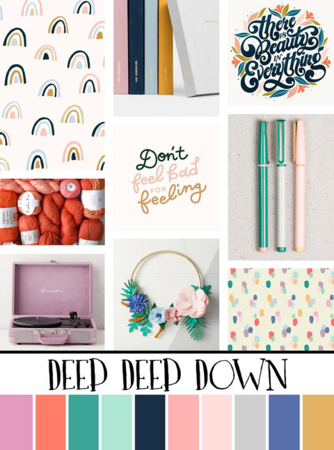 July Artist Mood Board & New Releases: Deep Deep Down