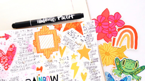 Journal the Rainbow | Faith Journaling Traveler's Notebook | Process Video