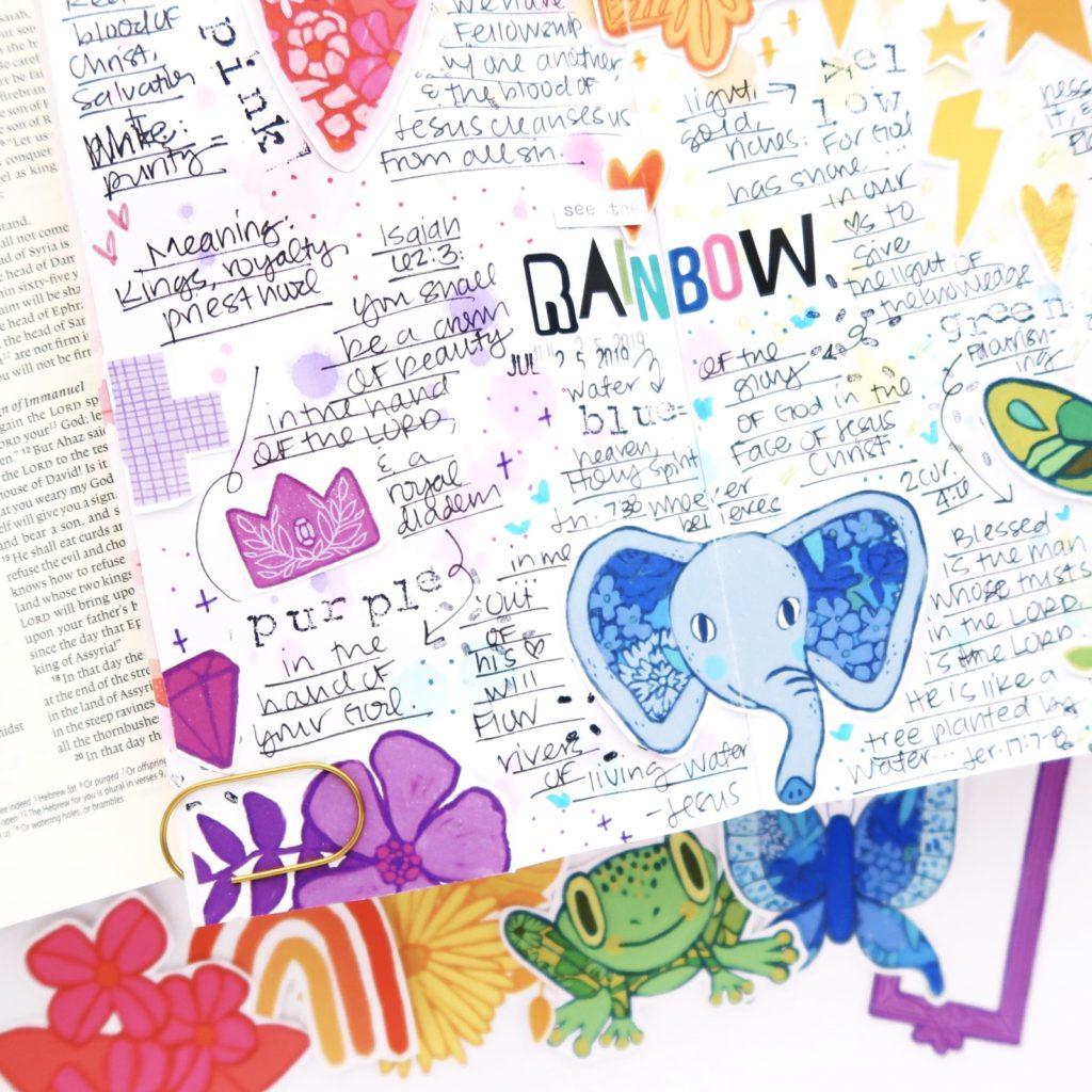 Journal the Rainbow   Faith Journaling Traveler's Notebook   Process Video by Jillian aka Hello Jillsky using digital printables
