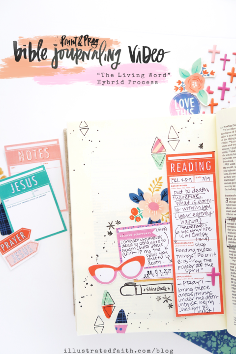 Print & Pray Bible Journaling Process Video | The Living Word Devotional Kit | Colossians 3