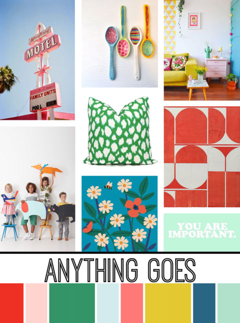 August Artist Mood Board & New Releases: Anything Goes
