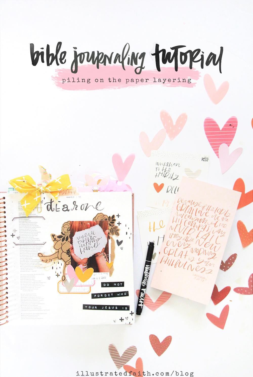 Bible Journaling Tutorial by Bekah Lynn aka Simply Bekah | Heartlayers Devotional Kit | The Promise | Isaiah 40:28