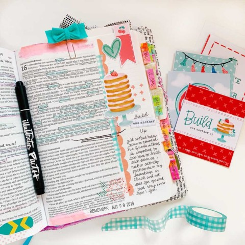 Print and Pray Hybrid Bible Journaling | Build One Another Up | Romans 16