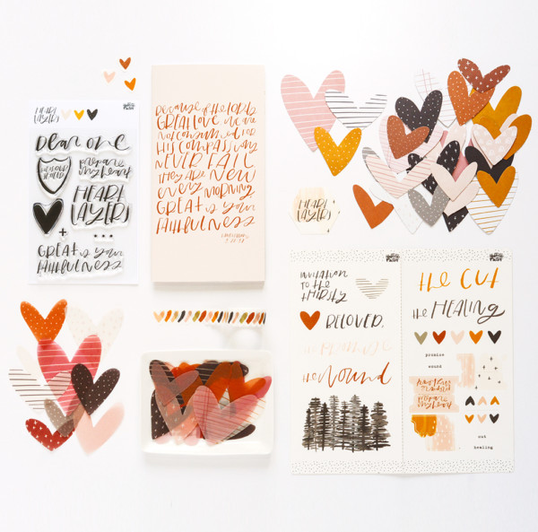 Illustrated Faith Heart Layers Kit