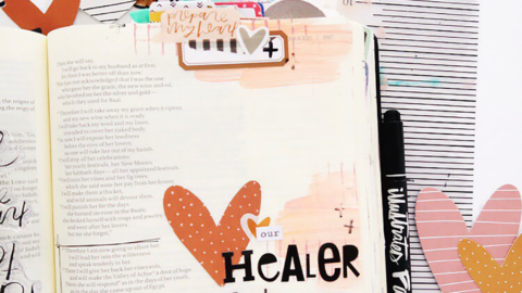Heart Layers Bible Journaling Process Video | Hosea 2