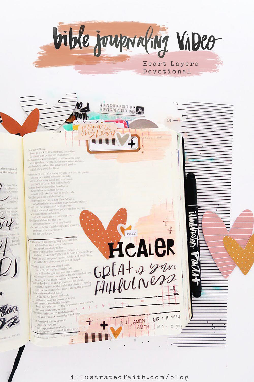 Heart Layers Bible Journaling Process Video by Jillian aka Hello Jillsky | Hosea 2