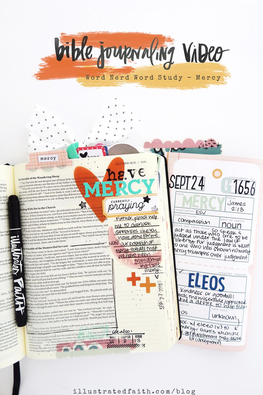 Bible Journaling Process Video by Jillian aka Hello Jillsky | Word Nerd Devotional Kit | Matthew 18:21-35