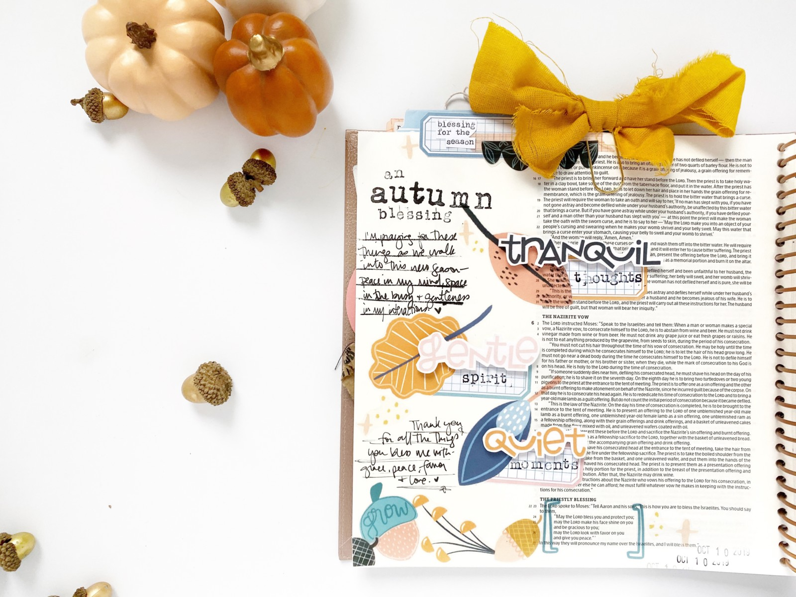 Print and Pray Bible Journaling by Rebecca Jensen using digital printables | Numbers 6:24-26 | Blessing for this Season