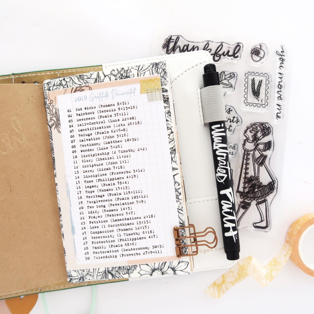 Traveler's Notebook Process Video by Jillian aka Hello Jillsky   Gratitude Documented Foundation Pages