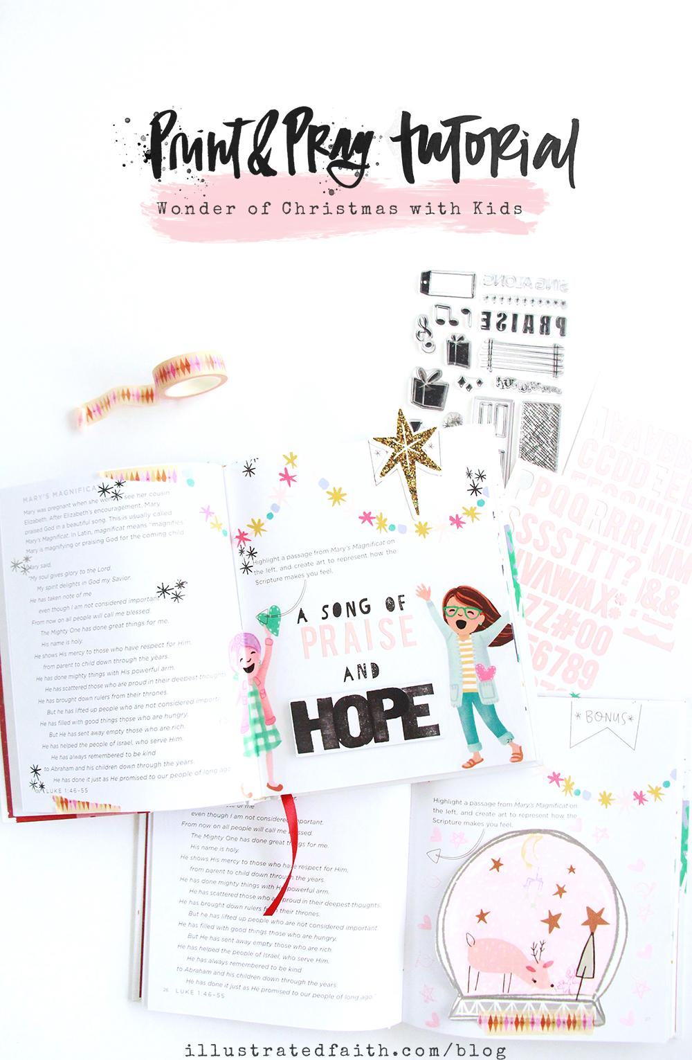 The Wonder of Christmas | Day 4 | Bible Journaling With Kids by Bekah Lynn aka SimplyBekah