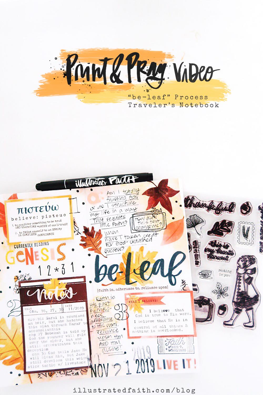 Print and Pray Shop Traveler's Notebook Process Video by Jillian aka Hello Jillsky using digital printables | BeLeaf