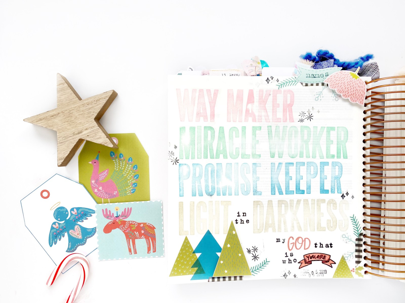 Print and Pray Bible Journaling + Wonder of Christmas by Becca Jensen using digital printables | Names of Jesus | Day 5