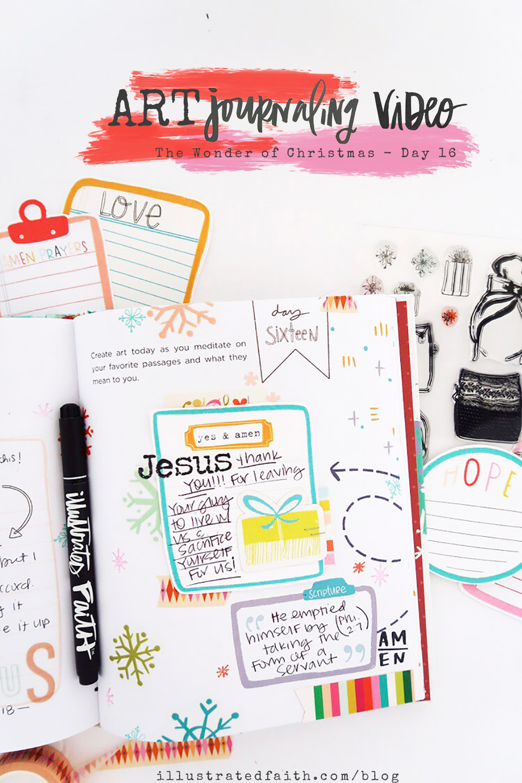 Wonder of Christmas Advent Journaling Process Video - Day 16 by Jillian aka Hello Jillsky
