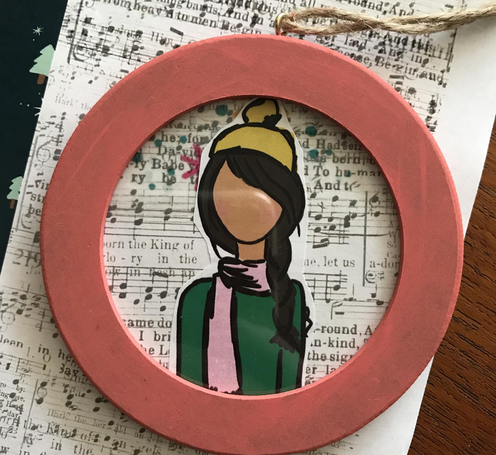 Beloved Society Ornament Tutorial by Beth using digital printables