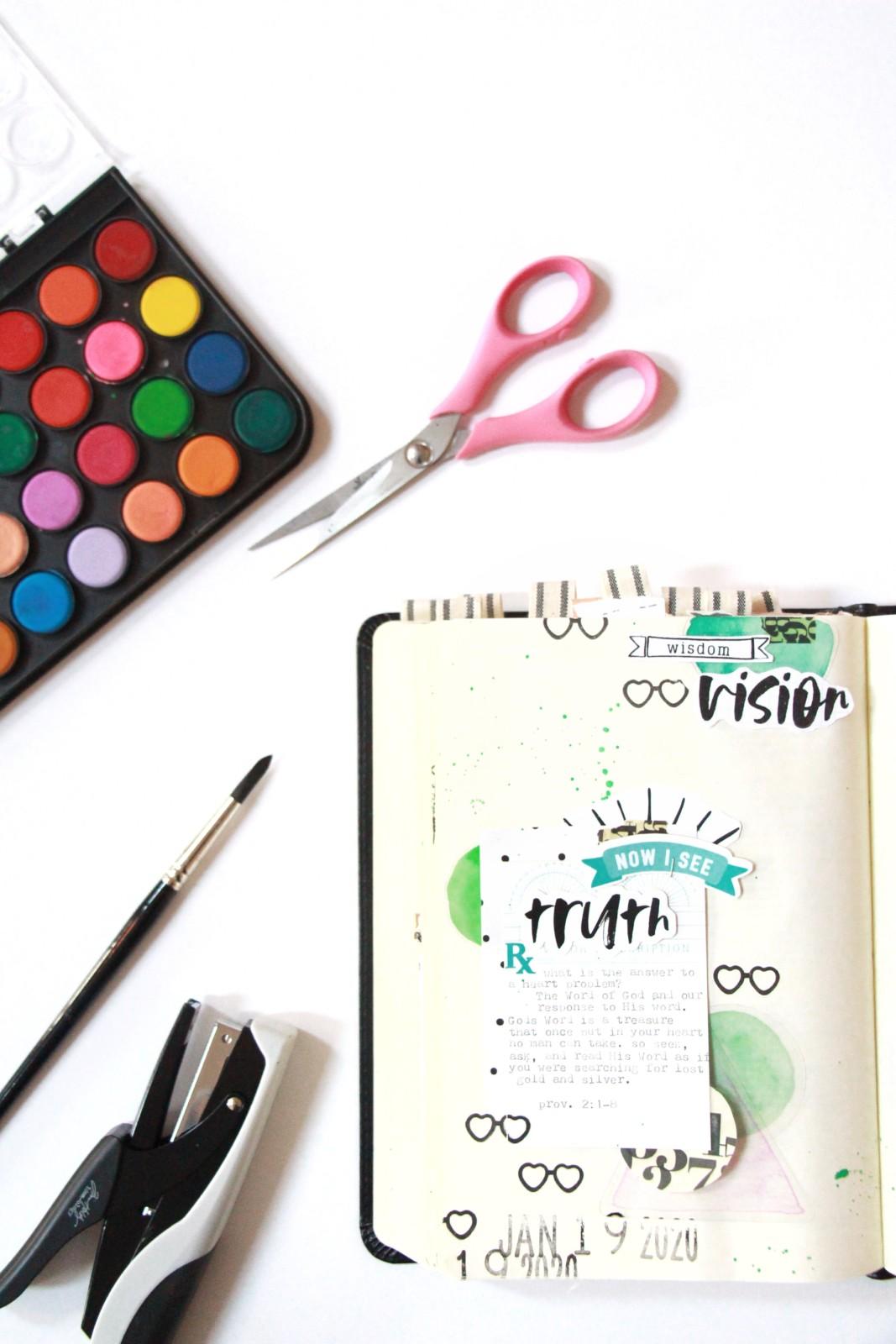 Bible Journaling by Bekah Lynn   Wisdom Vision   2020 Vision Kit   Proverbs 2:1-8