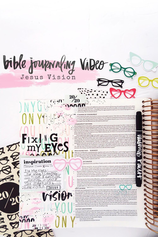 Bible Journaling Process Video by Jillian aka Hello Jillsky using 2020 Vision devotional kit | Jesus Vision