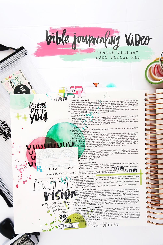 Bible Journaling Process Video by Jillian aka Hello Jillsky | Faith Vision | 2020 Vision